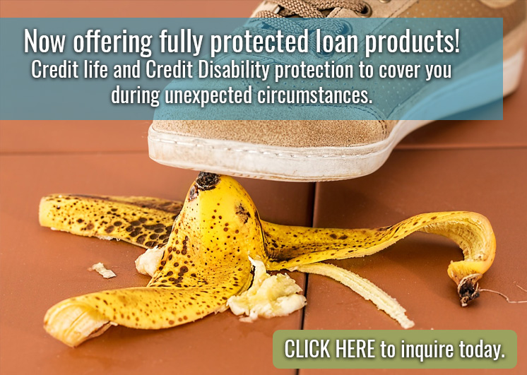 Credit Life and Credit Disability Options Available